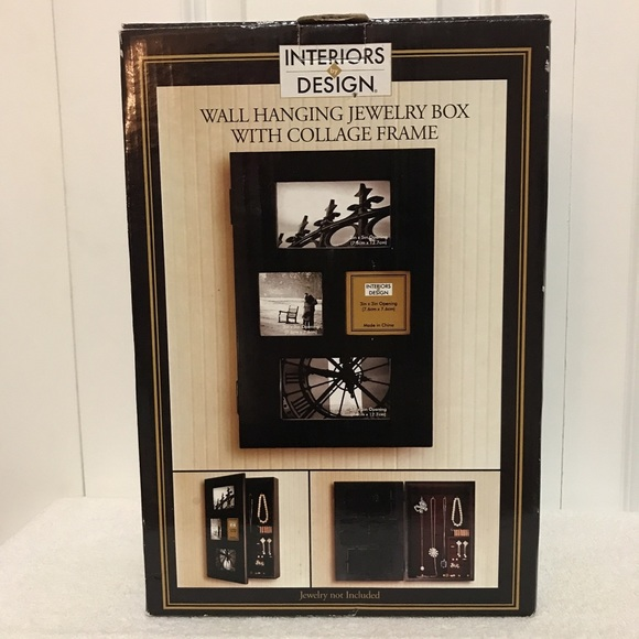 interiors by design Other - Wall hanging jewelry box w/collage frame